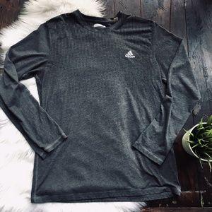 ADIDAS AEROKNIT Long Sleeve Gray Shirt Men's LARGE